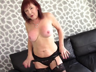 Wendy Taylor moans in pleasure during their way solo masturbating session