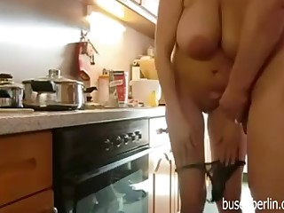 Full-Breasted Matured Fucks in Kitchen