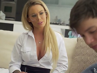 Ardent Isabelle Deltore gives awesome blowjob before the brush slit is poked mish