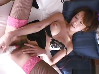 Asian Couple Likes To Try Out New Toys