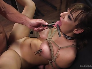 Bondage and spanking is a new receive for sweet Charlotte Unfavourable