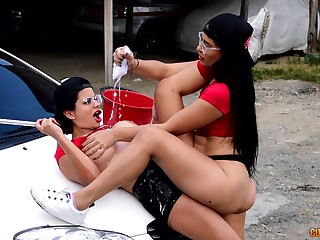 Lesbians love a portray of scissoring during their outdoor play