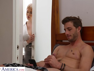 Dude gets putrescent fapping in his room by his smoking hot stepmom