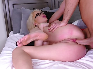 Blonde with curvy ass, most insane hard have a passion she ever had
