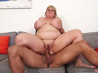 Fat blonde lady, Tiffany Blake is getting fucked most assuredly hard and enjoying it a lot