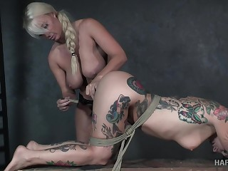 Emotional poor submissive spitfire Joanna Angel is fucked with strapon