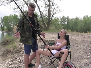 Fishing trip goes pretty steamy for the shy amateur