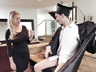 MILF stepmom fucks a college graduate and that woman is so damn fine