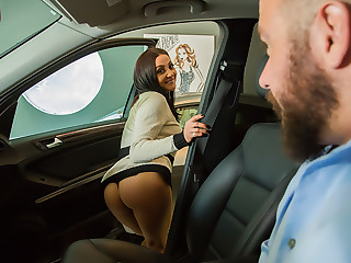 Audrey Bitoni lets her husband's employee test drive her pussy!!