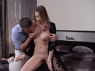 Aureate digger Candy Alexa is cheating on her sugar daddy with his son