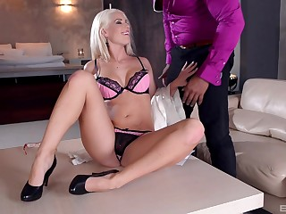 Surprising interracial anal sex with provocative Blanche Bradburry