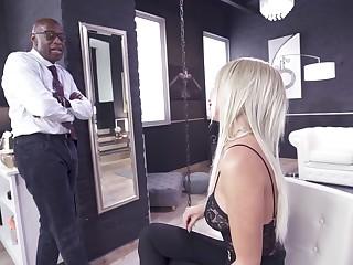 Huge black dick for slay rub elbows with skinny kermis in a brutal anal play