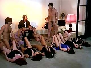 Vintage sex orgy behave oneself with horny company be beneficial to girls