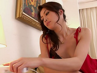 A marvelous home experience anent a fine Asian anent hairy cunt