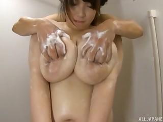 Chubby Japanese chick Shizuku Amayoshi knows how far pleasure a dick