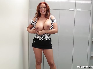 Gagged full-grown wants some fresh sperm on those freckled tits