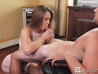 Young sentence Avery Christy is effectuation with her pussy nigh the boss's office