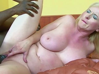 Dirty mature Monika Wipper gets her ass poked by a black clothes-horse