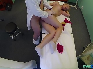 Curvy Blonde With A Bubbly Butt Accepts Smutty Doctor's Offer