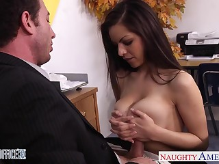 Sexy hot brunette plateau nylon stockings rides strong cock as a result well