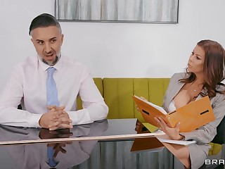 Business meeting ends with regard to in scenes of hard sex
