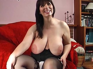 Solo model Josephine James pleasures their way pierced clit with toys