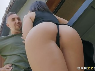 Young hottie Adriana Chechik likes to feel chubby horseshit in mouth and anal hole